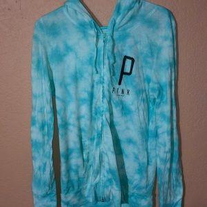 Women's PINK long sleeve zip up hoodie size medium